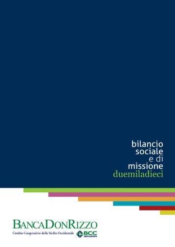 Scarica il bilancio sociale 2010 - Banca Don Rizzo