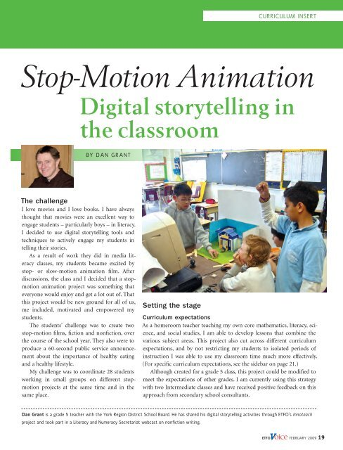 Stop Motion Animation Digital Storytelling In The