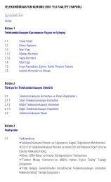 l? faaliyet raporu - Telekomünikasyon Kurumu