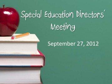 Powerpoint - ESC2 Special Education
