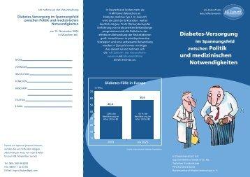 Diabetes-Versorgung zwischen Politik und ... - GlaxoSmithKline
