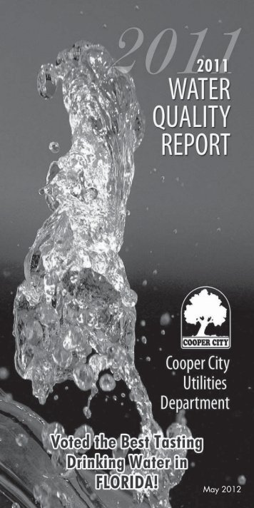 2011 Water Quality Report - Youwin-weallwin.com