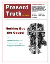 Nothing But the Gospel - Present Truth Magazine