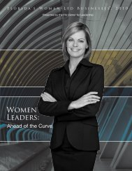 Florida Woman-Led Businesses, 2010 - Center for Leadership