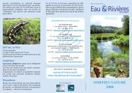 Tarif des sorties - Eau et rivières de Bretagne