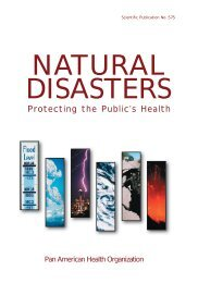 NATURAL DISASTERS: Protecting the Public's Health - PAHO/WHO