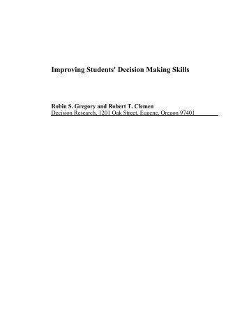 student decision making study essay School counselors, ethical decisions - school counseling: a case study in ethical decision making.