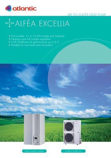 12-6067 Fiche ALFEA EXCELLIA UK - Atlantic-comfort.com