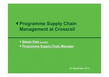 Crossrail Supply Chain Management - Rail Alliance