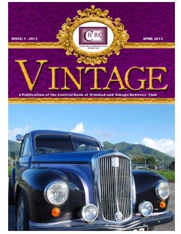 Vintage Magazine - April 2013 - Central Bank of Trinidad and Tobago
