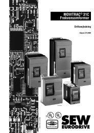 MOVITRAC® 31C Frekvensomformer - SEW-Eurodrive
