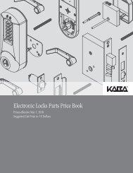 Kaba - E-Plex Parts May 2010 Price Book - Access Hardware Supply