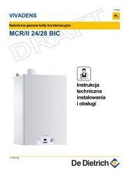 Instrukcja techniczna dla MCR/II 24/28 BIC - De Dietrich