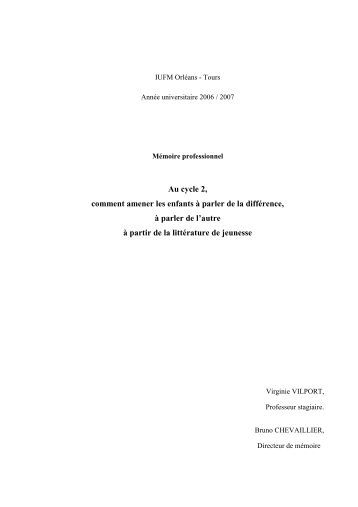 Mémoire professionnel - IUFM
