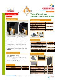 I-8 Table DFN aspirante soudage meulage MISTRAL - Oerlikon