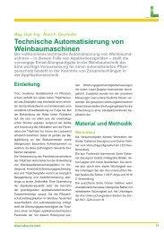 Technische Automatisierung von Weinbaumaschinen [71 kB]