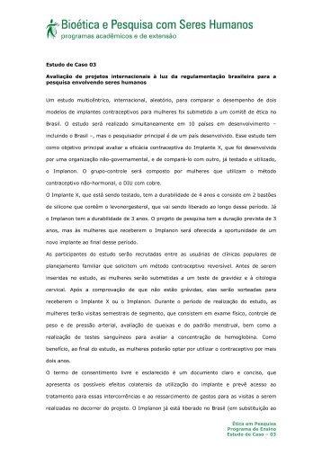 Estudo de Caso 03 Avaliação de projetos internacionais à luz ... - Anis