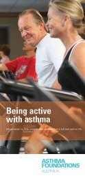 Being active with asthma - Asthma Foundation of Western Australia