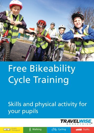 Free Bikeability Cycle Training - the TravelWise Merseyside website