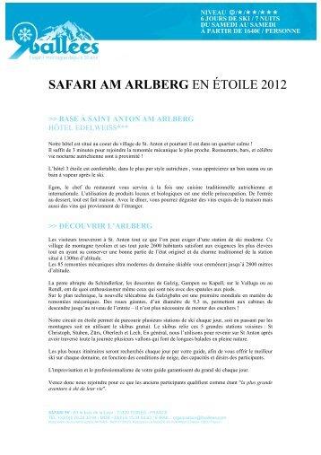 SAFARI AM ARLBERG EN ÉTOILE 2012 - Ski Safari 9 vallées