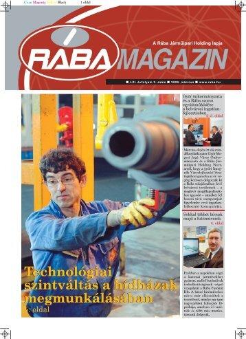 Technológiai szintváltás a hídházak megmunkálásában - RÁBA ...