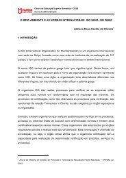 O MEIO AMBIENTE E AS NORMAS INTERNACIONAIS: ISO 26000 ...