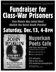 Nuyorican Poets Cafe - Partisan Defense Committee