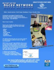 BGCEV Advertising Packet - Boys & Girls Clubs of the East Valley