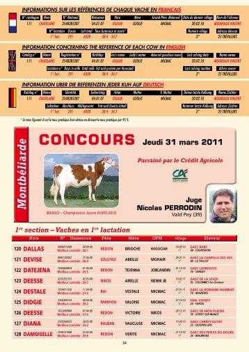 Catalogue du concours Montbéliard - Web-agri
