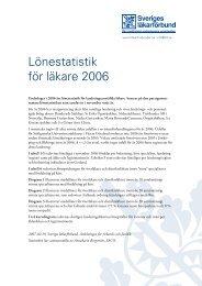 Lönestatistik för läkare 2006 - SFAI