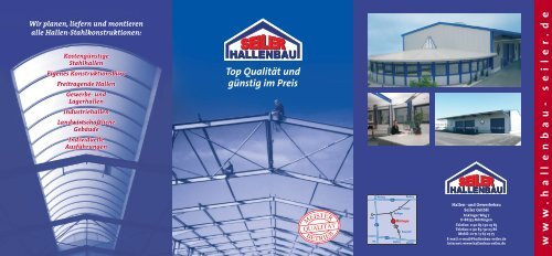 w w w .hall enbau- seiler .de - Hallen- und Gewerbebau Seiler GmbH