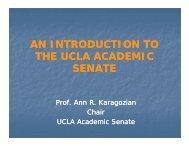 What is the Academic Senate? - UCLA Academic Senate