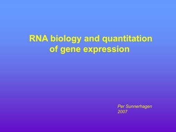 RNA biology and quantitation of gene expression