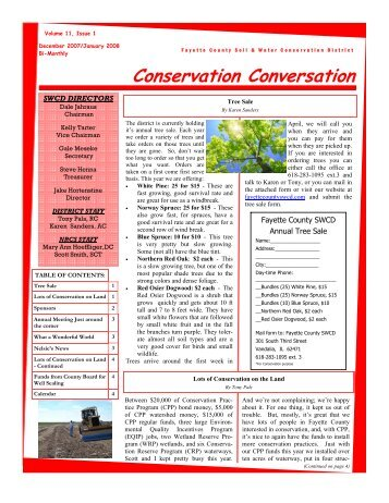 Conservation Conversation - Dec 2007 - Fayette County SWCD