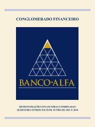 CONGLOMERADO FINANCEIRO - Banco Alfa