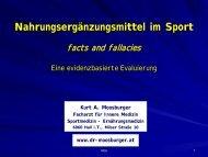 Nahrungsergänzungsmittel im Sport - Dr. Kurt A. Moosburger