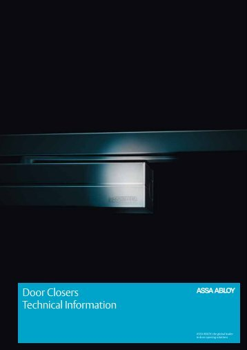 ASSA ABLOY door closers catalogue, full version (in English)