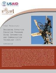 Designing Effective Education Programs Using ... - EQUIP123.net