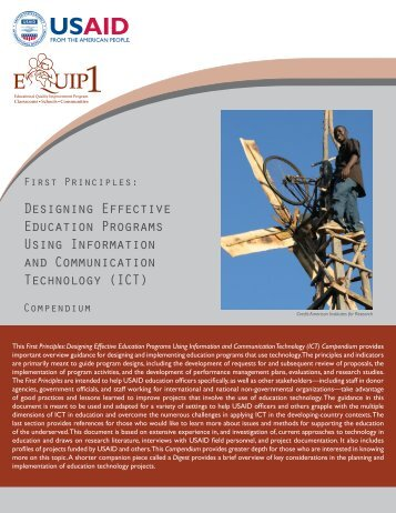 Designing Effective Education Programs Using ... - EQUIP123.net