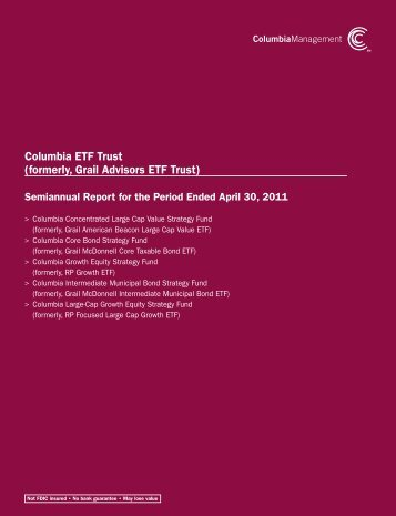 Columbia ETF Trust - Columbia Management