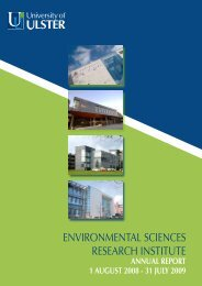 environmental sciences research institute - University of Ulster