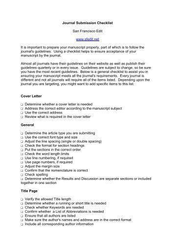 Journal Submission Cover Letter. Gallery Of Ideas Collection Cover