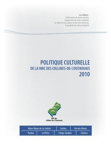 MRC - Politique Culturelle - Ministère de la Culture et des ...