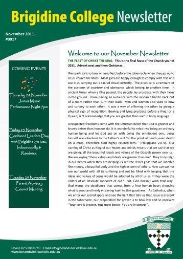 Issue 17 Nov 18 th 2011 - Brigidine College Randwick