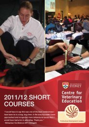 2011/12 SHORT COURSES - Hong Kong Veterinary Association