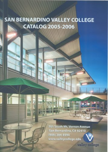 san bernardino valley college 2005-2006 - SBCCD : Document Library