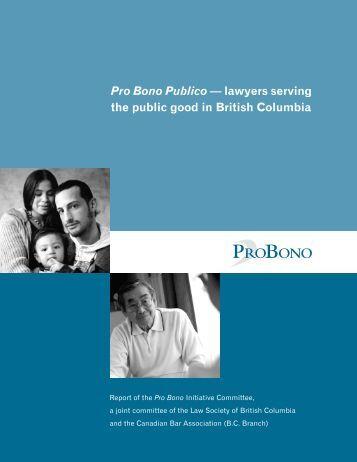 Pro Bono Publico - The Law Society of British Columbia