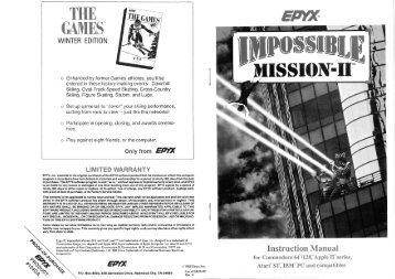 Impossible Mission II Manual - Virtual Apple