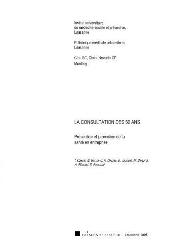 LA CONSULTATION DES 50 ANS - IUMSP