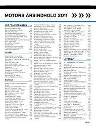 MOTORS ÅRSINDHOLD 2011 - FDM
